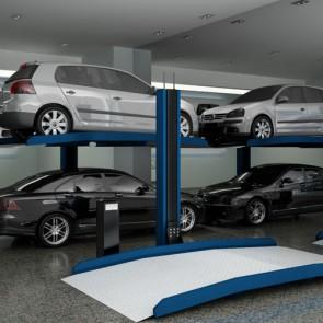 Mono colonne pour 2 voitures
